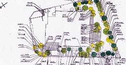 東京都練馬区の住宅地の植栽竣工平面図です。